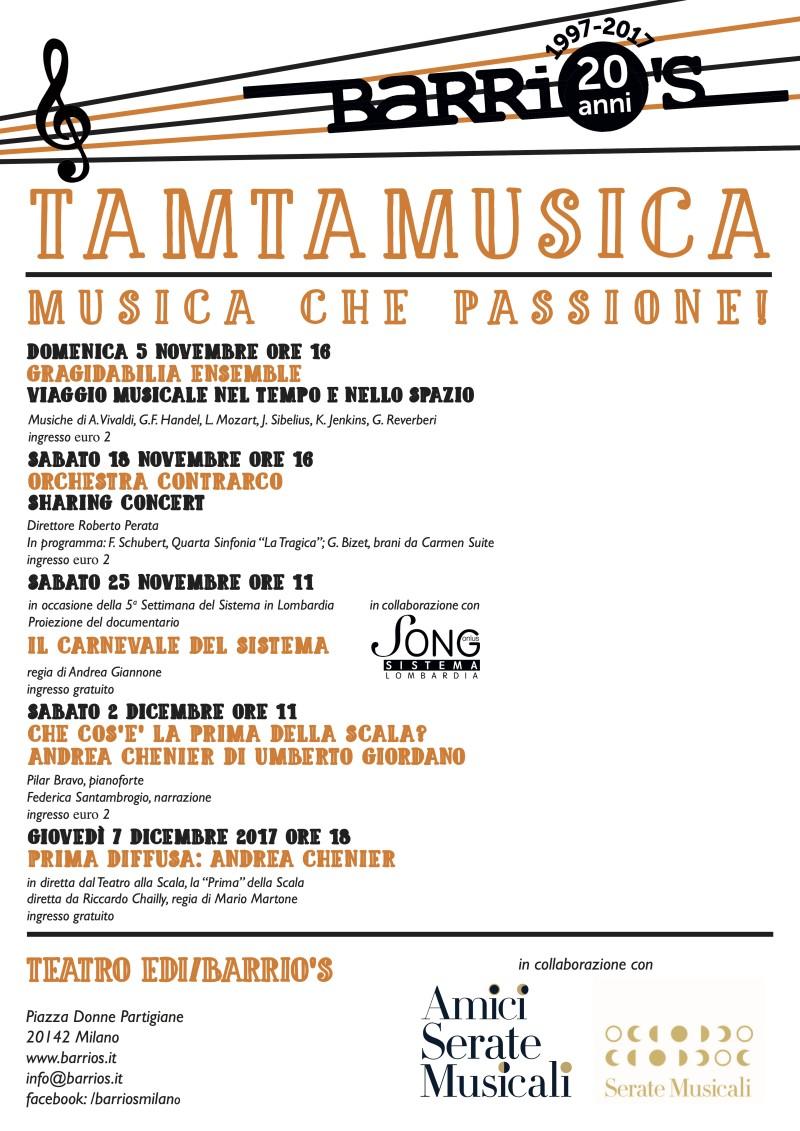 Calendario TamTaMusica 2017
