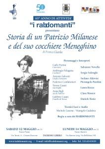 Volantino Storia di u patrizio milanese e del suo cocchiere meneghino
