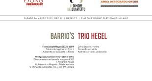 16 marzo Barrio's - Hegel